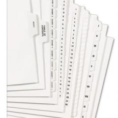Legal Index Tabs
